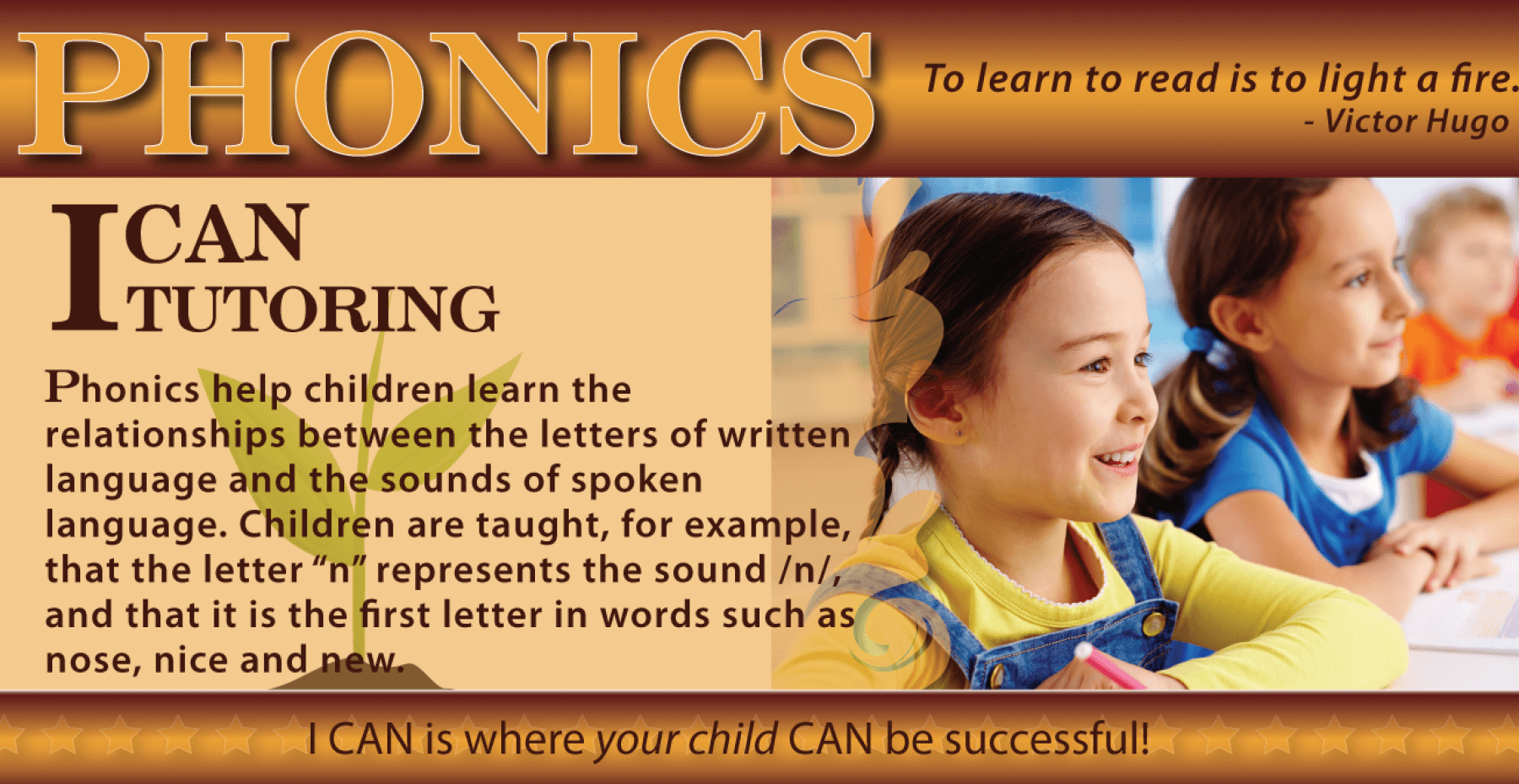 WEB – BANNER – PHONICS – I CAN CHRISTIAN ACADEMY